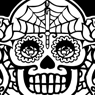 Sugar skulls graphic design for Miss Fortune Clothing