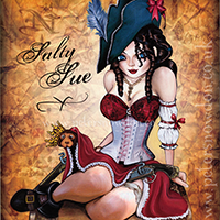 Fantasy art character  illustration - Salty Sue, Pirate Queen